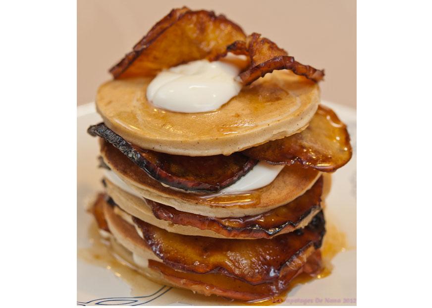 Les Papotages de Nana - Pancakes vanille pommes roties au camarel