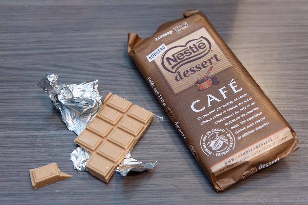 les papotages de nana cr me aux oeufs au chocolat caf nestl dessert. Black Bedroom Furniture Sets. Home Design Ideas