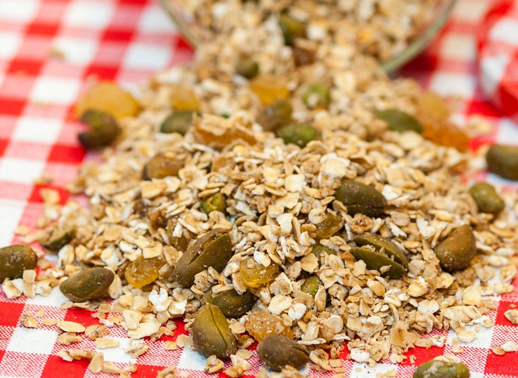 Les Papotages de Nana - Granola aux pistaches