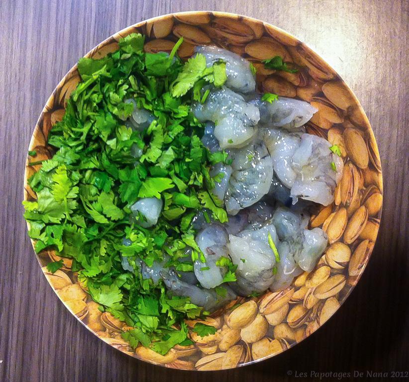 Les Papotages de Nana - Raviolis crevettes
