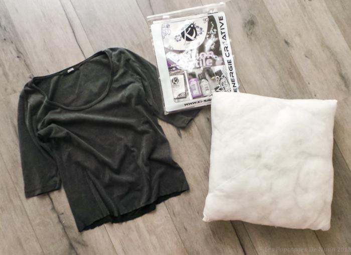 Les Papotages de Nana - coussin DIY