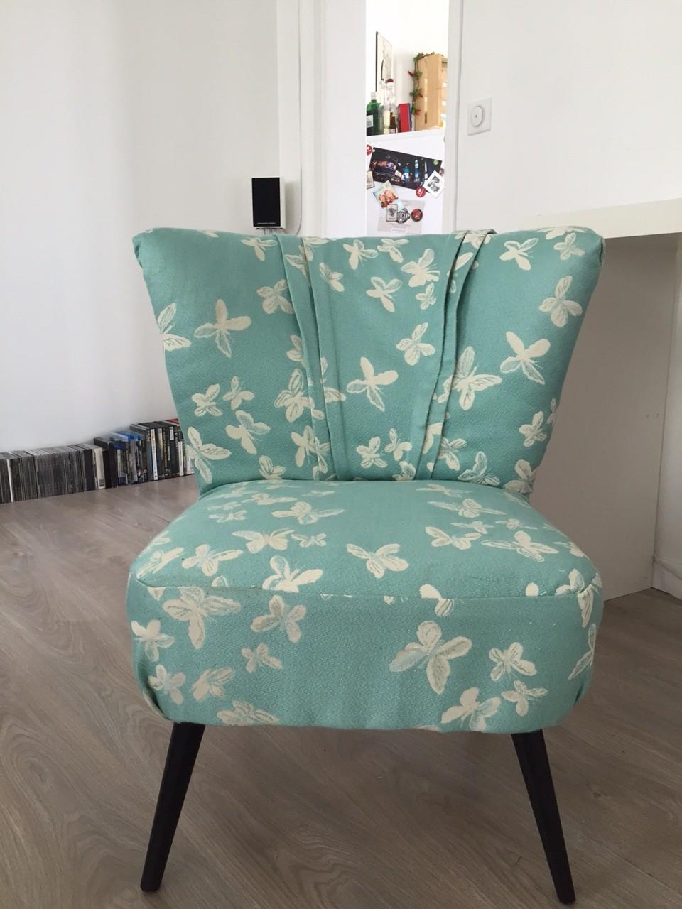 les papotages de nana diy mon nouveau vieux fauteuil cocktail. Black Bedroom Furniture Sets. Home Design Ideas