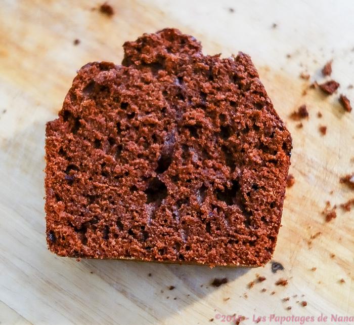 Les Papotages de Nana - Gateau chocolat, café, amandes