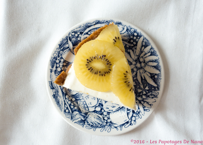 Les Papotages De Nana - Cheesecake kiwi