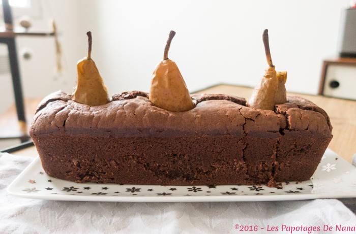 Les Papotages de Nana - Gâteau choco poires