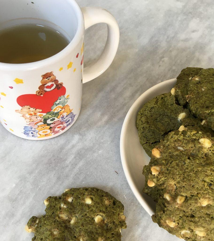 Les Papotages de Nana - Cookies matcha chocolat blanc