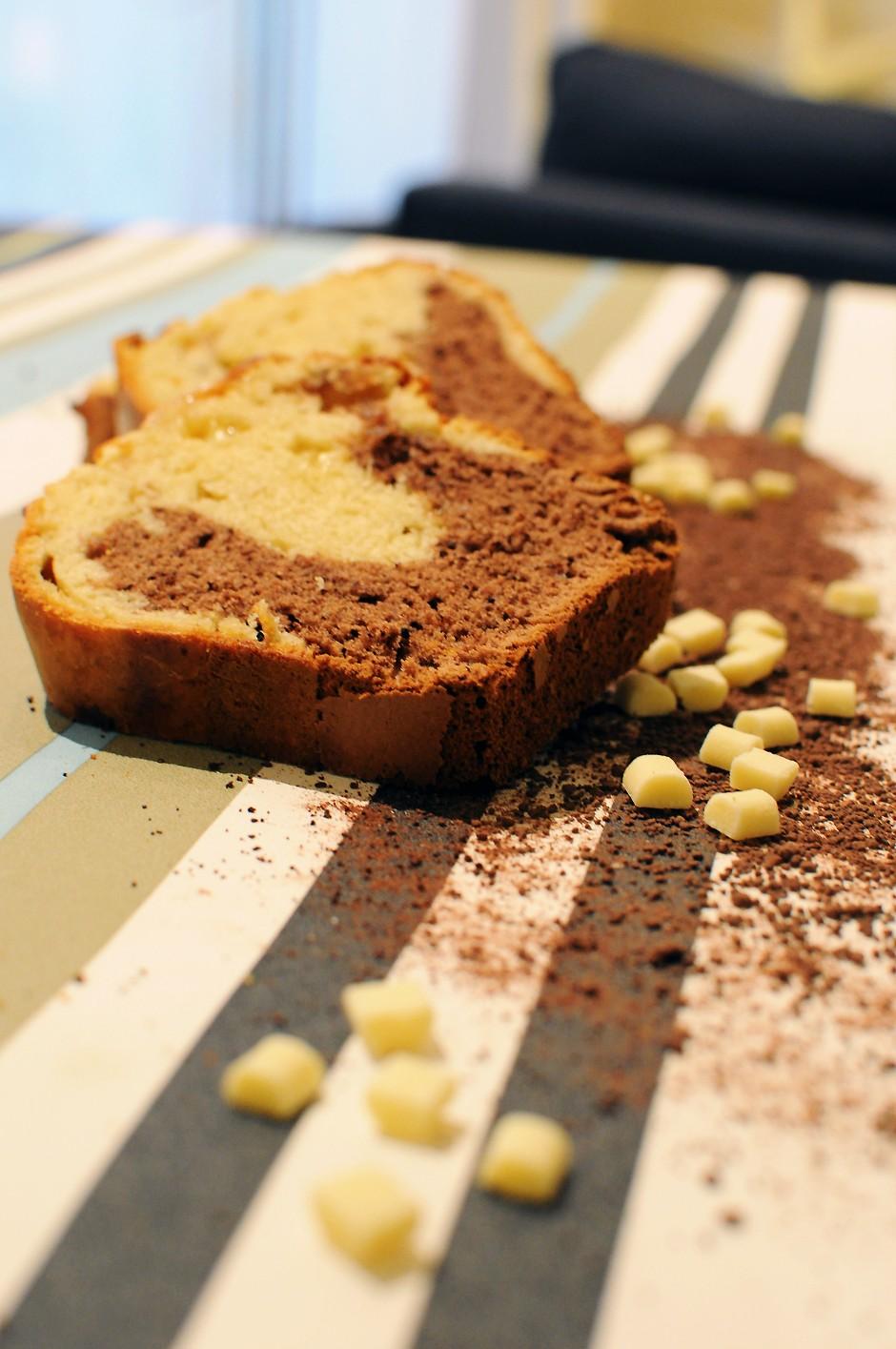 Les Papotages de Nana - Cake marbré Bi goût