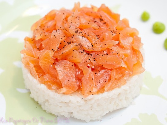 Les Papotages de Nana - Le défi Kub'Or : Un shirashi saumon au café