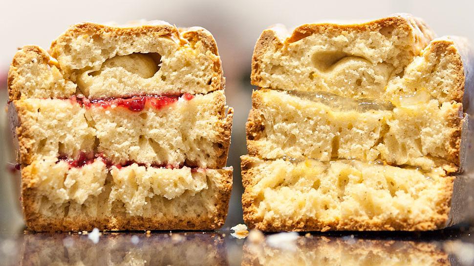 Les Papotages de Nana - Cake huile de vanille confiture framboise