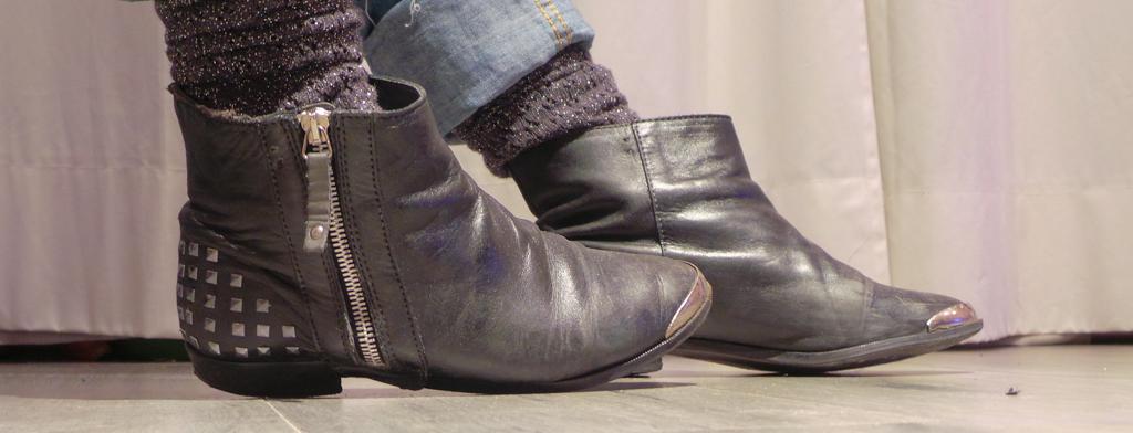 Les Papotages de Nana - Boots cloutées DIY
