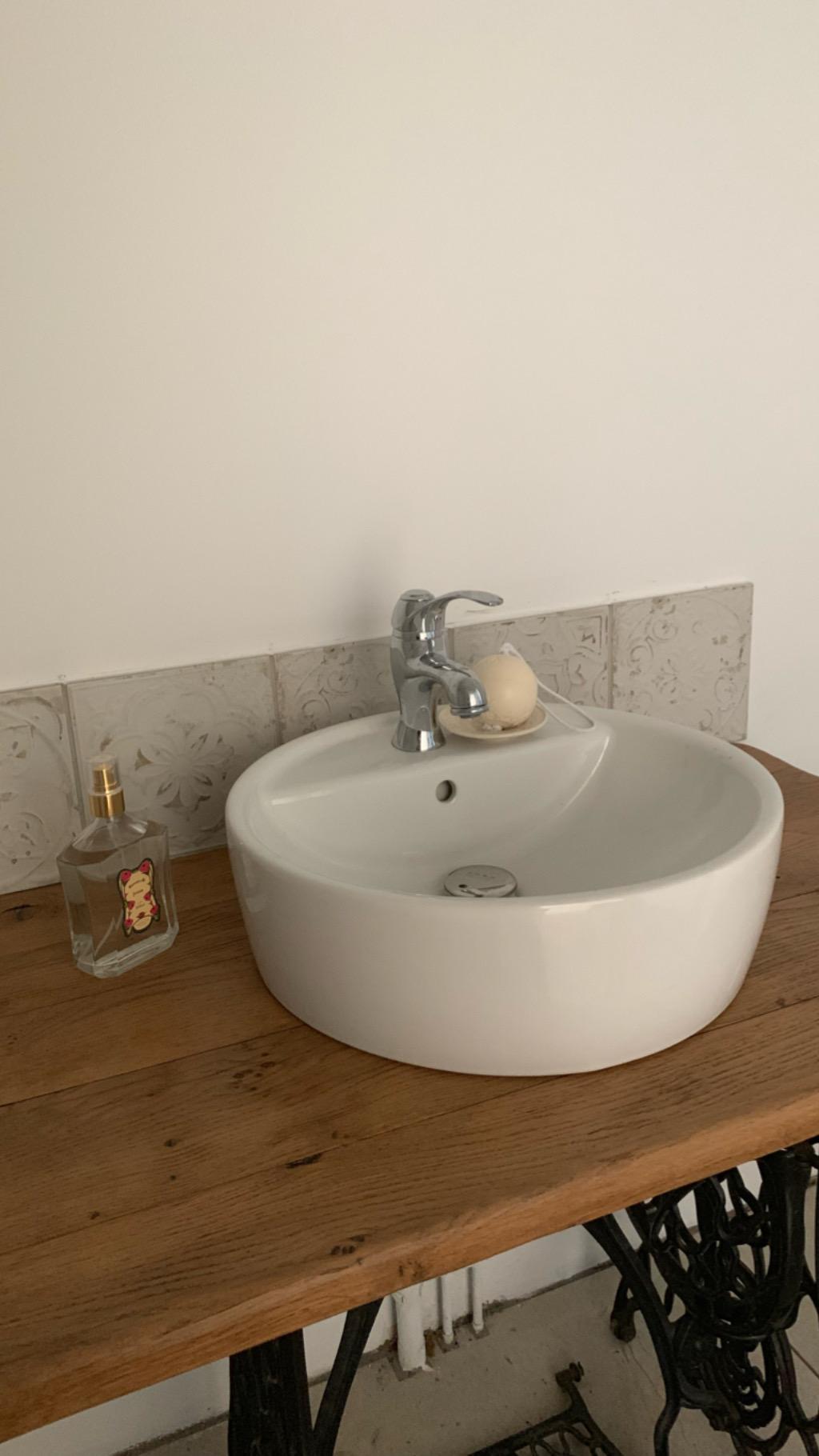 Cacher Trou Carrelage Salle De Bain les papotages de nana la salle de bains (avant/ après)