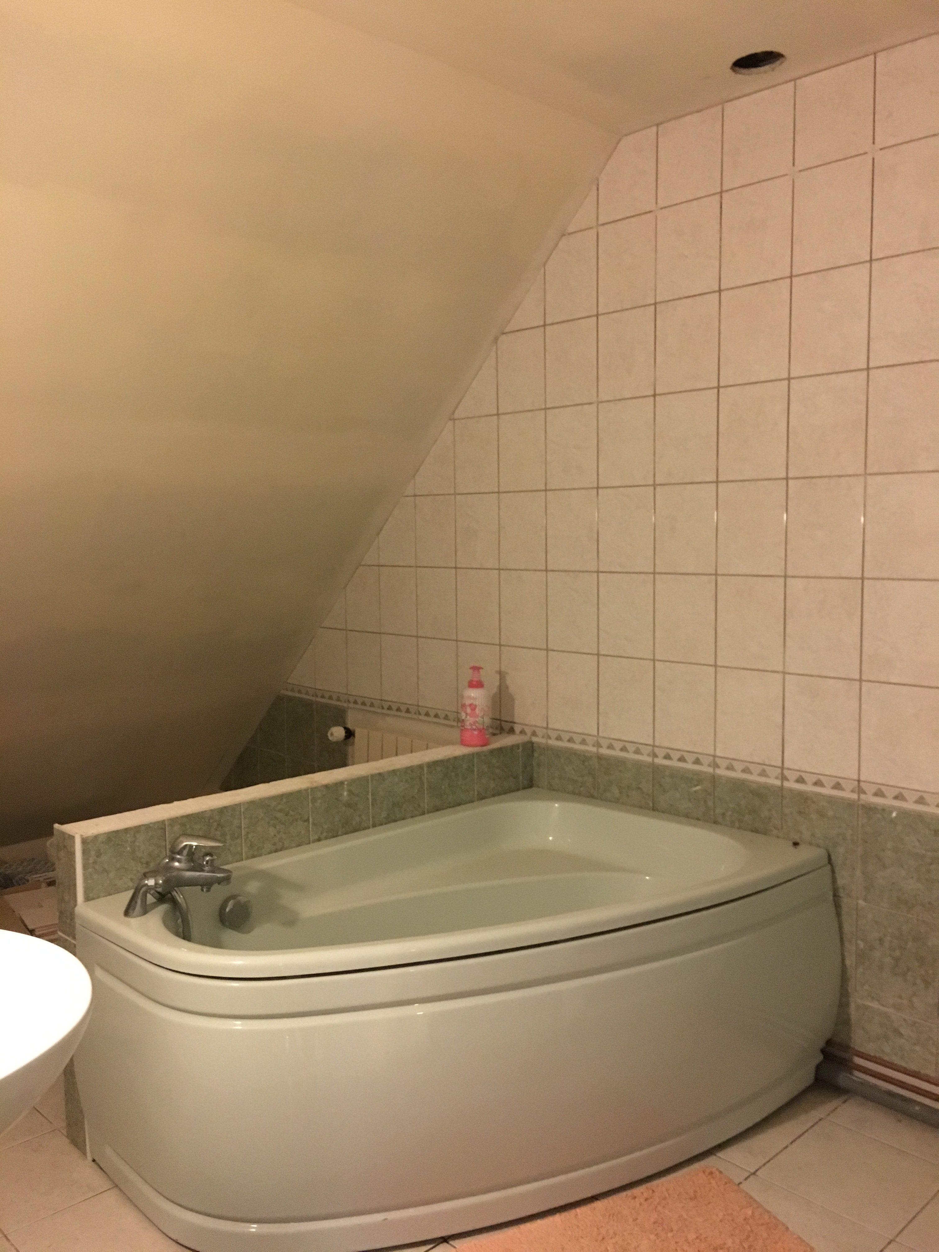 Carrelage Sol Moche Que Faire les papotages de nana la salle de bains (avant/ après)